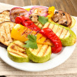 Stock fotografie: Delicious grilled vegetables on plate on table close-up