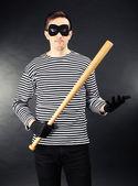 Thief on dark background — Foto de Stock
