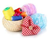 Handicraft supplies isolated on white — Stock Photo