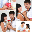 Collage of lovely couple — Stock Photo #40549295