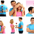 Collage of lovely couple — Stock Photo #40549431