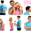 Collage of lovely couple — Stock Photo