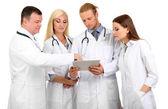 Medizinische arbeiter isoliert auf weiss — Stockfoto