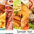 Collage of dishes for restaurant menu — Stock Photo
