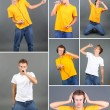 Collage of young singer — Stock Photo #40638989