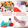 Foto Stock: Collage of healthy lifestyle