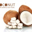 Stock Photo: Coconuts isolated on white