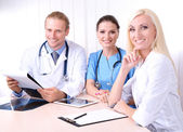 Medical team during meeting in office — Stockfoto