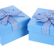 Gift boxes isolated on white — Stock Photo