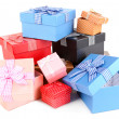 Gift boxes isolated on white — Stock Photo #40783243