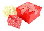 Gift boxes isolated on white — Stockfoto