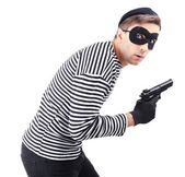 Thief isolated on white — Stock Photo