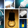 Stock Photo: Collage of light bulbs