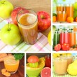 Fresh juice collage — Stock Photo #40808941