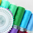 Colored spools of threads close up — Stock Photo #40815857