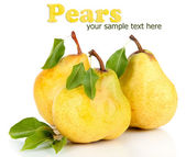 Juicy pears isolated on white — Stock Photo