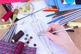 Fashion designer close up — Stockfoto