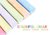 Chalks in variety of colors, isolated on white — Stok fotoğraf