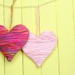 Decorative heart on wooden background — Stock Photo #40820271