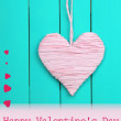 Decorative heart on wooden background — Stock Photo #40820291