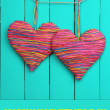 Decorative heart on wooden background — Stock Photo #40820331