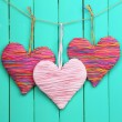 Decorative heart on wooden background — Stock Photo #40820333