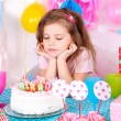 Pretty little girl celebrate her birthday — Stock Photo #40823245