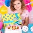 Pretty little girl celebrate her birthday — Stock Photo #40823285