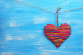 Decorative heart on wooden background — ストック写真