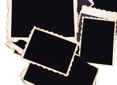 Blank old photos isolated on white — Stock Photo