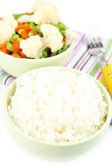 Cooked rice and vegetables close up — Stock Photo