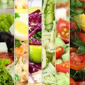 Collage de diverses salades — Photo