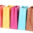 Colorful shopping bags, isolated on white — Stock Photo #40883933
