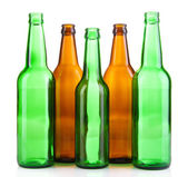 Glass bottles isolated on white — Stock Photo