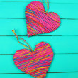 Decorative heart on wooden background — Stock Photo #40891237