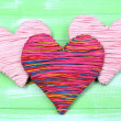 Decorative heart on wooden background — Stock Photo #40891247