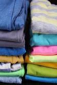 カラフルな服のクローズ アップ — ストック写真