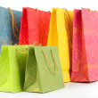 Colorful shopping bags, isolated on white — Stock Photo #40933031