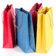 Colorful shopping bags, isolated on white — Stock Photo #40933043