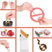 Concept of stop smoking — Stock Photo
