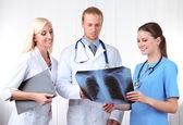 Medical workers in office — Foto de Stock