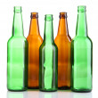 Stock Photo: Glass bottles isolated on white