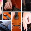 Musical collage. Guitar — Stock Photo #41232117