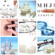 Collage of equipment for good vision close-up — Stock Photo