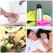 Collage of healthy lifestyle — Stock Photo #41232223
