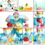 Genetic engineering laboratory. GMO food concept — Stock Photo #41232439