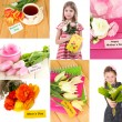 Mother's day collage — Stock Photo