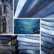 Stock Photo: Jeans collage