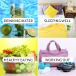 Collage of healthy lifestyle — Stock Photo