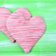 Decorative heart on wooden background — Stock Photo #41233709
